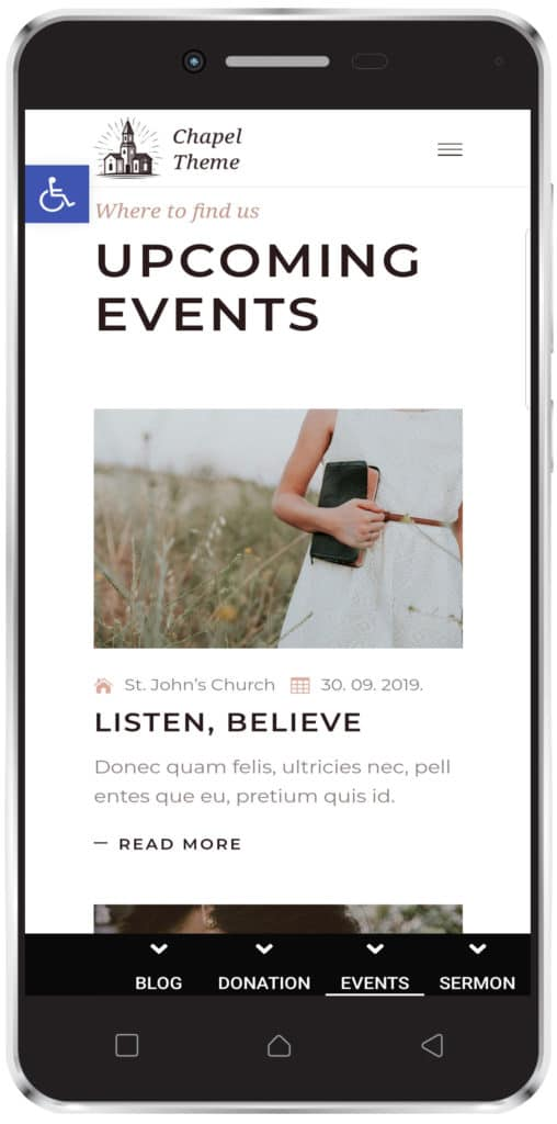 church app - events