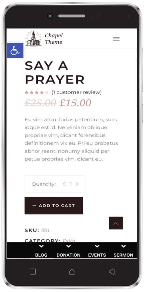church app - shop